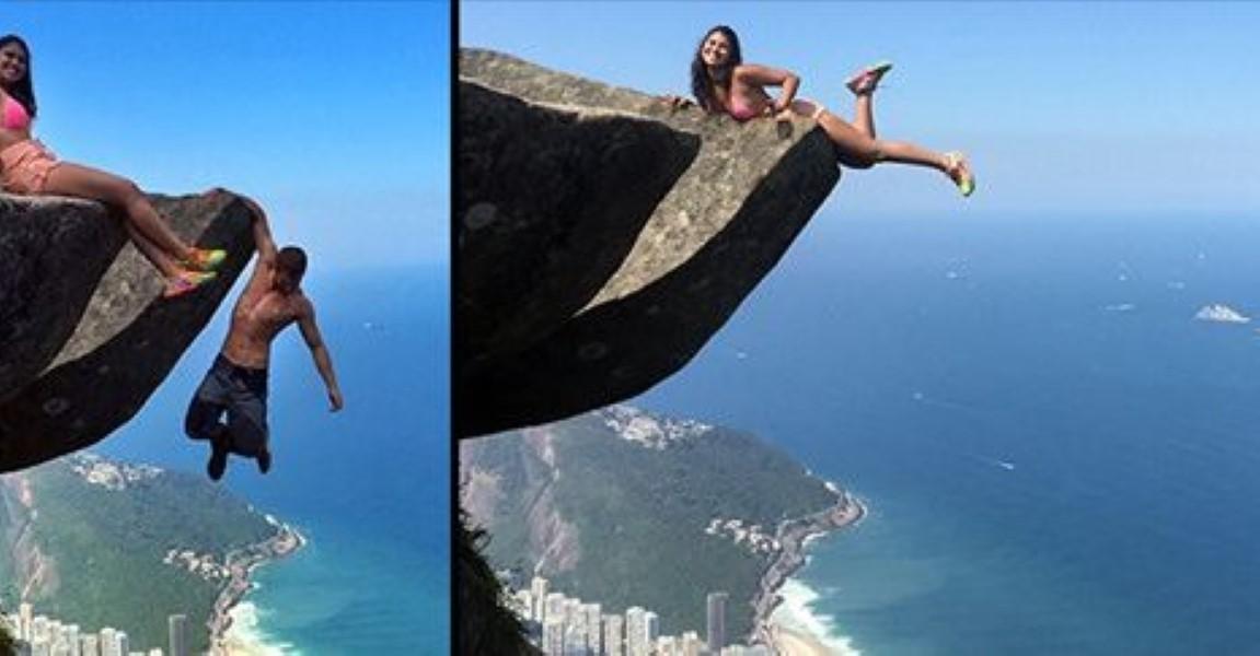 Insane Couple Hang A Crazy 2 700ft Off A Cliff Over Rio De
