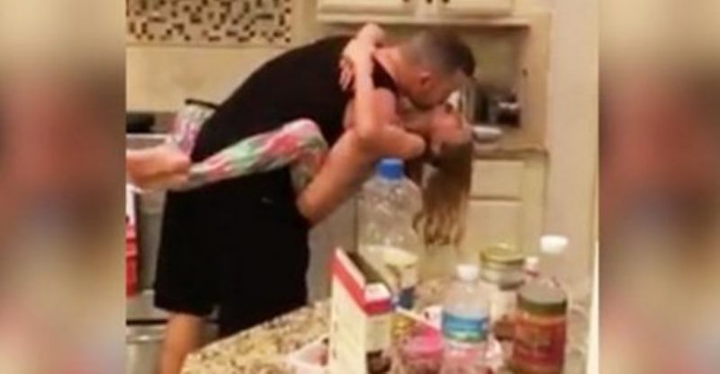 Father and Daughter Kitchen Dance