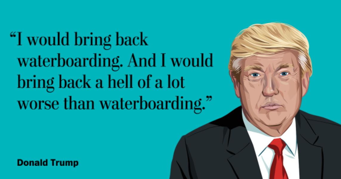 Waterboarding Trump