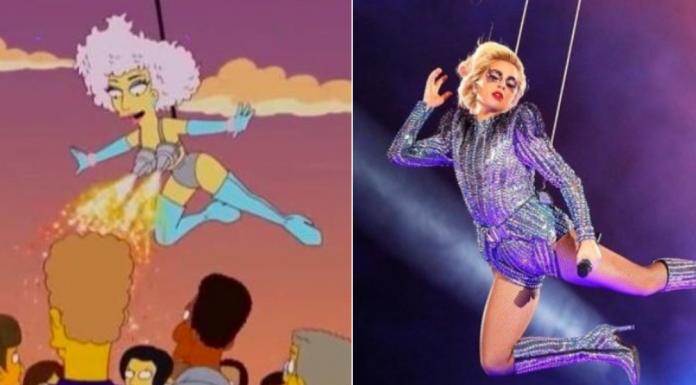 Lady Gaga Super Bowl Simpsons