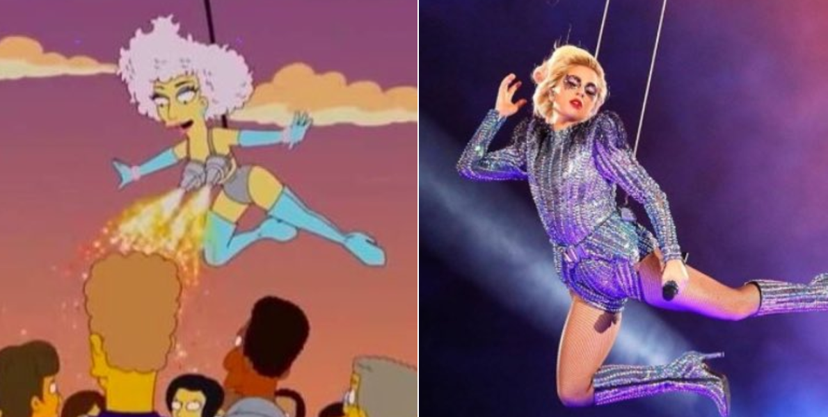 Lady Gaga Super Bowl Simpsons