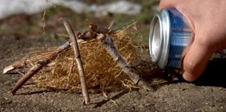 Make Your Next Camping Trip Easier With This Can And Chocolate Fire Lighting Life Hack!