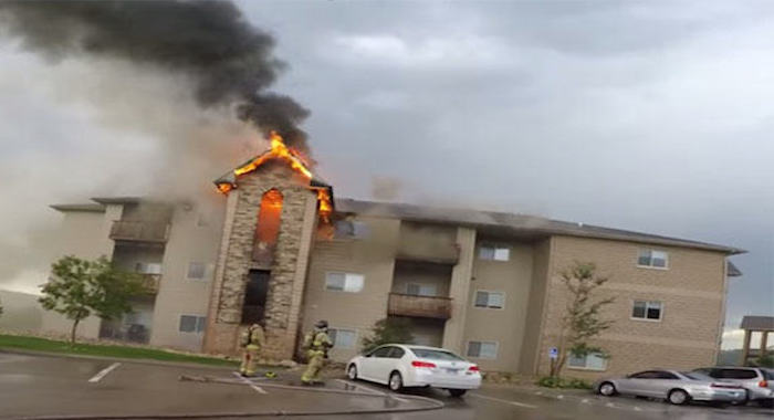 These Men Film Themselves Saving Lives During A Dramatic Apartment Fire.