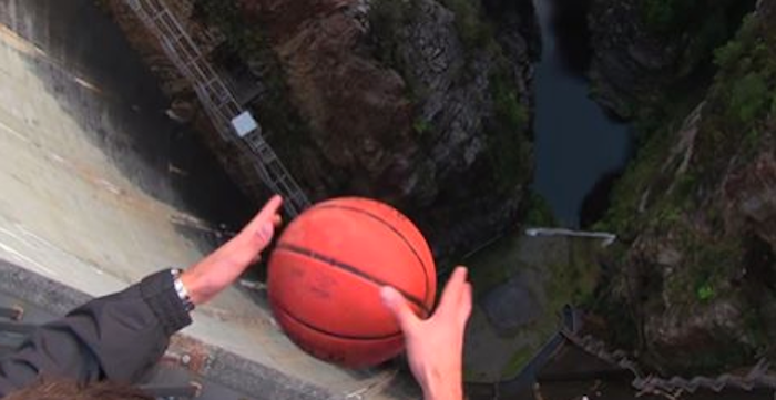 They Dropped A Basketball From 415 ft. I Didn't Expect This To Happen!