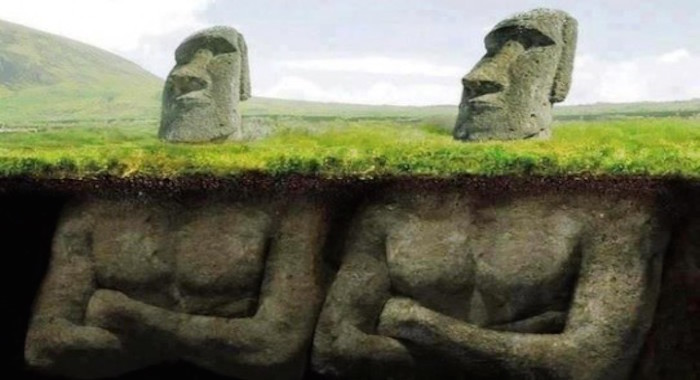 Archaeologists Discover Something Amazing Underneath The Easter Island Heads!