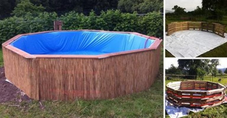 Make Your Very Own DIY Swimming Pool With 9 Old Wooden Pallets!