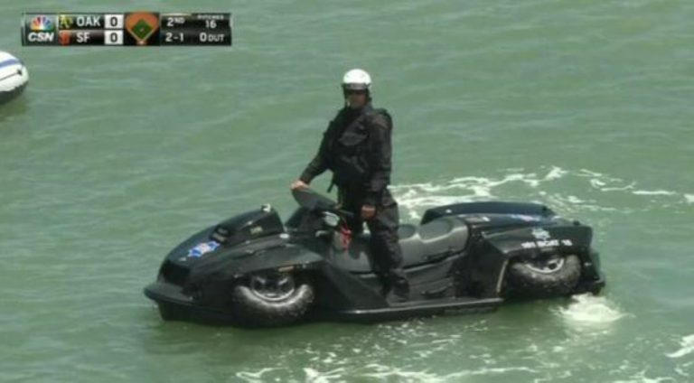 San Francisco Cops Show Off Their Awesome Quad Bikes That Turn Into Jet Skis!