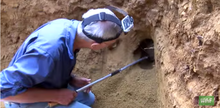 This Man Approaches A Hole With Caution… Just Wait Until You See What's Inside