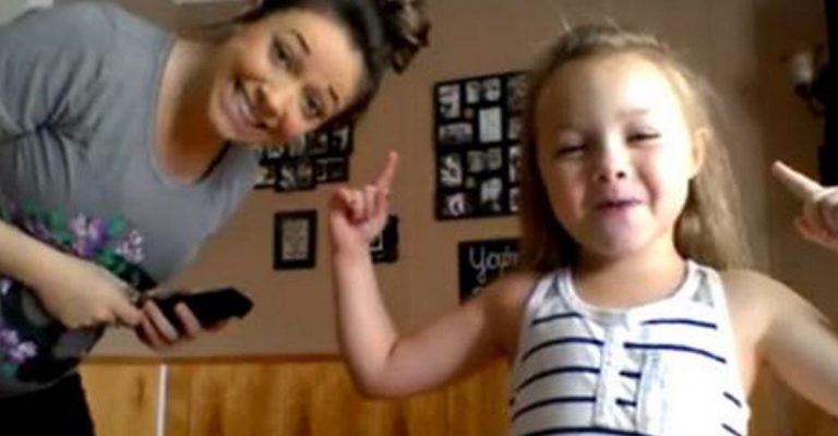 Watch This Pregnant Mom And Her Adorable Daughter Break The Internet With This AWESOME Dance Off!