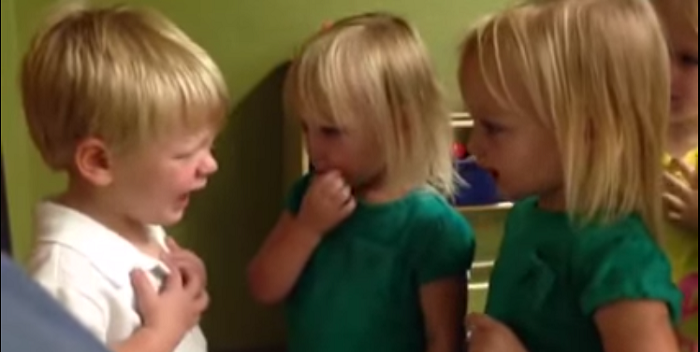 These Toddlers Are About To Have The Cutest Bust Up EVER!