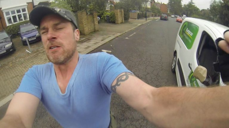 Driver Goes Nuts At Cyclist – But Just Wait For The Crazy Twist At The End!