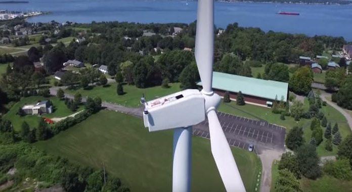 Sunbathing On Wind Turbine