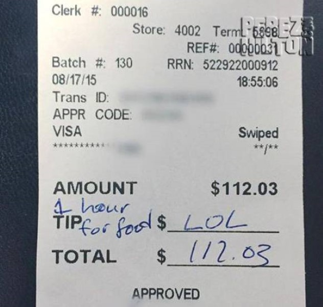Waitress Check