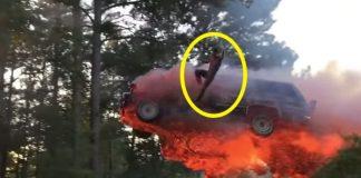 Fire Car Jump