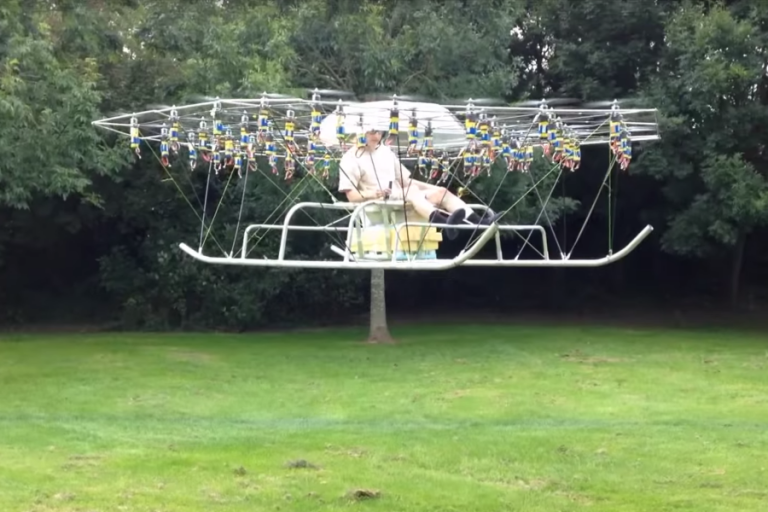 This Smart Guy's Built An Awesome Personal Helicopter Using Drone Parts!