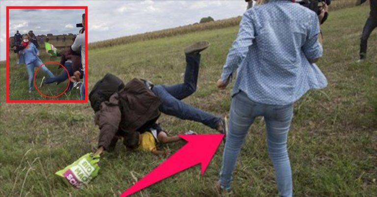 News Reporter Caught Tripping Over And Kicking Fleeing Refugee Men And Children