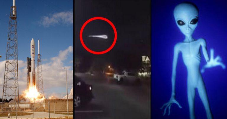 Rocket Or ALIENS? Eerie Footage Of Light In The Sky Baffles Science