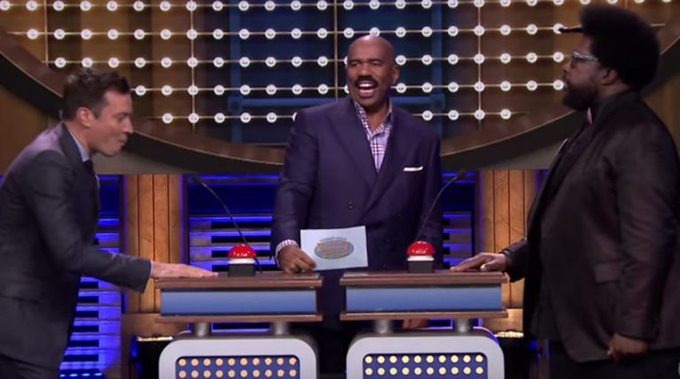 Steve Harvey Appears On A Special 'Tonight Show' Edition Of 'Family Feud'. The Result Is HILARIOUS!