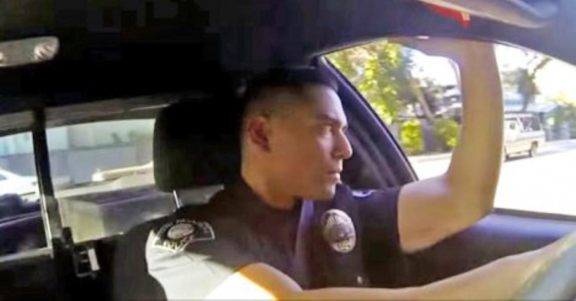 Cop saves girl