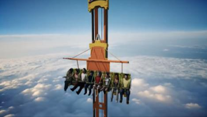 This 41 Story Amusement Park Ride Will Have You Reaching For The Sick Bucket!