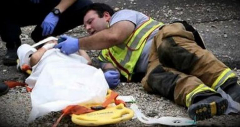 When A Firefighter Did THIS For A Terrified Little Boy? My Heart Melted!
