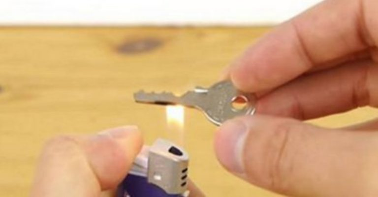 He Held His Key Over a Flame… Now He's Never Going To Be Locked Out Again!