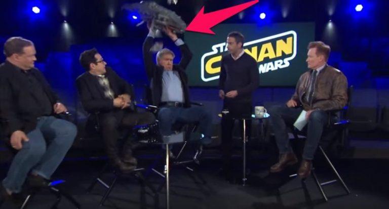 Harrison Ford Totally DESTROYS A Star Wars Fan's Lego Millennium  Falcon