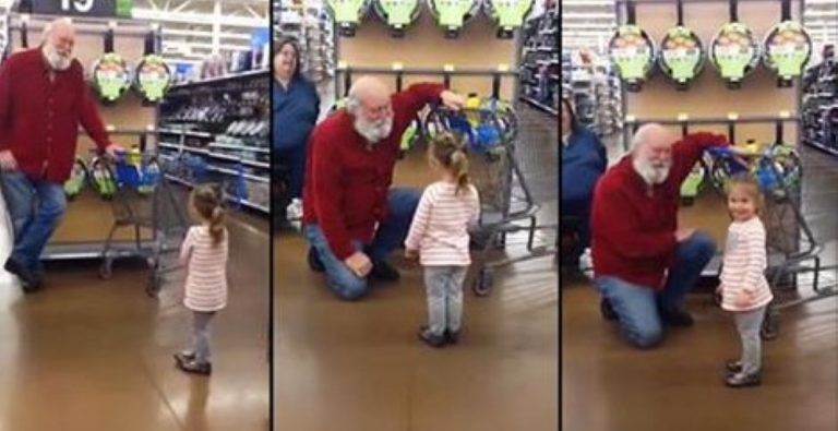 Cute Little Girl Mistakes Stranger For Santa… And He Just Goes Along With It!