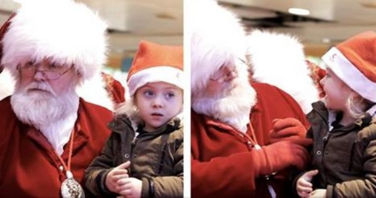 Santa Claus Makes This Little Girl's Christmas!
