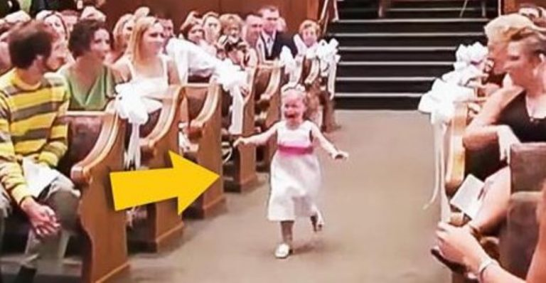 The Little Flower Girl Ran Down The Aisle In a Panic? Why…? PRICELESS!