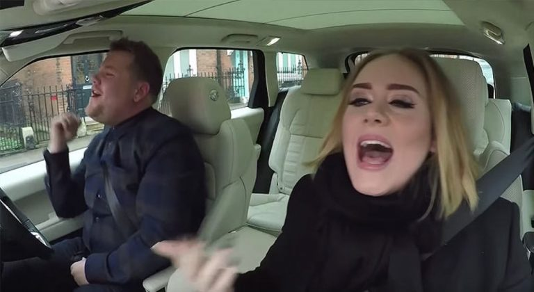 Adele Joins James Corden For Carpool Karaoke And Predictably NAILS IT!