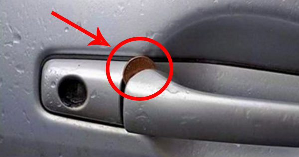 If You Ever See A Coin Jammed Into A Car Door Like THIS… Act Immediately!