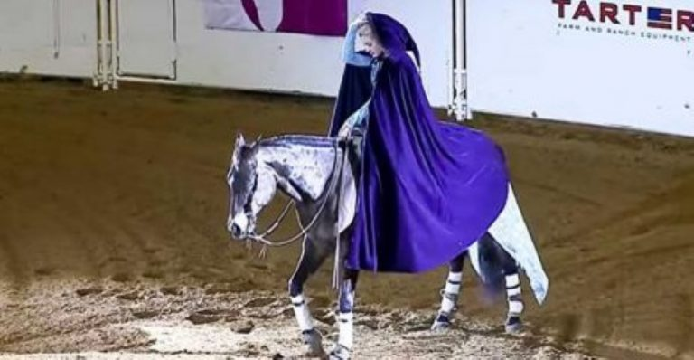 She Rides In On Her Horse – But When She Removes Her Cape? She Stuns EVERYONE!