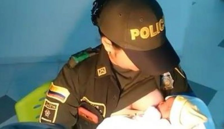 Police Officer Breastfeeds Abandoned Baby That Was Left To Die