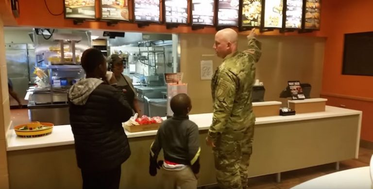 Soldier Sees What 2 Young Boys Are Doing In Taco Bell, Instantly Knows What To Do