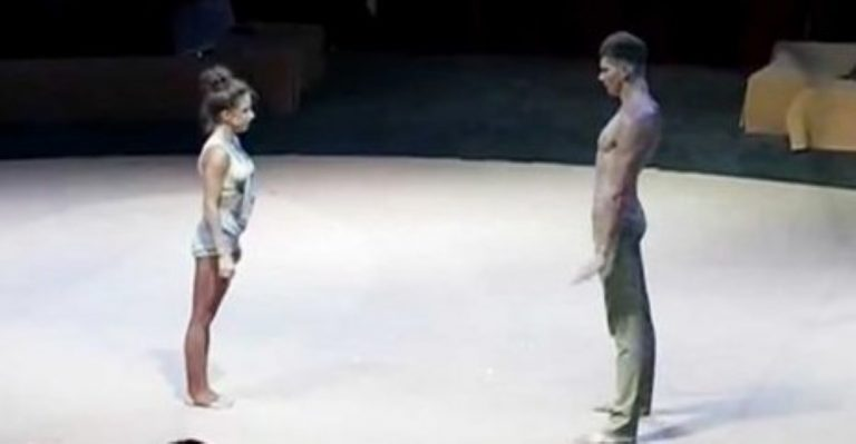 These Dancers Face Each Other – When She Steps Forward… Blink And You'll Miss It! WOW!