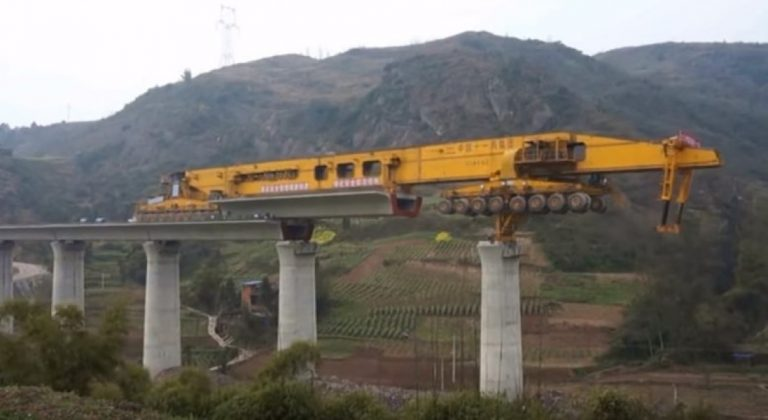 This Bridge Building Machine Is Nothing Short of Awesome!
