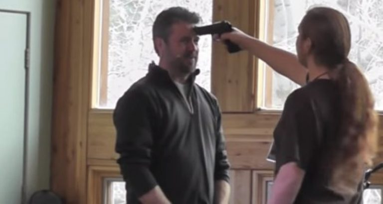 Black Belt Marine Demonstrates How To Disarm Someone With A Gun In AN INSTANT!