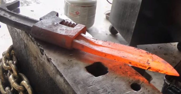 How To Turn An Old Wrench Into One Of The Coolest Knives Ever