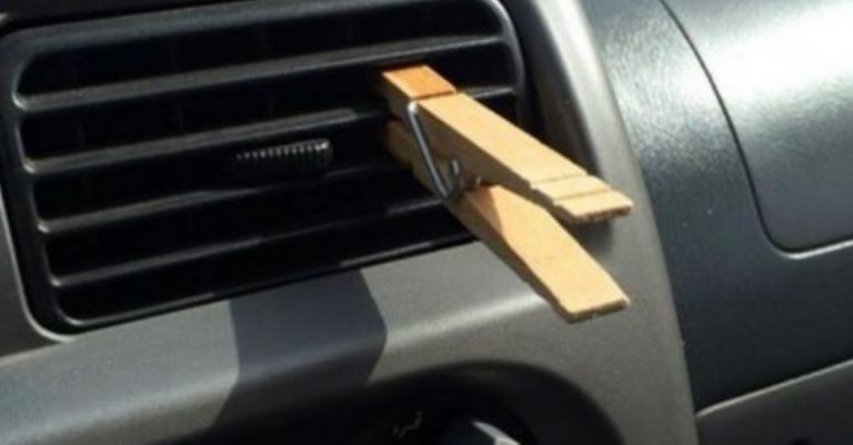 She Clips A Clothespin To Her Car's AC Vent… Why? It's Really Clever!
