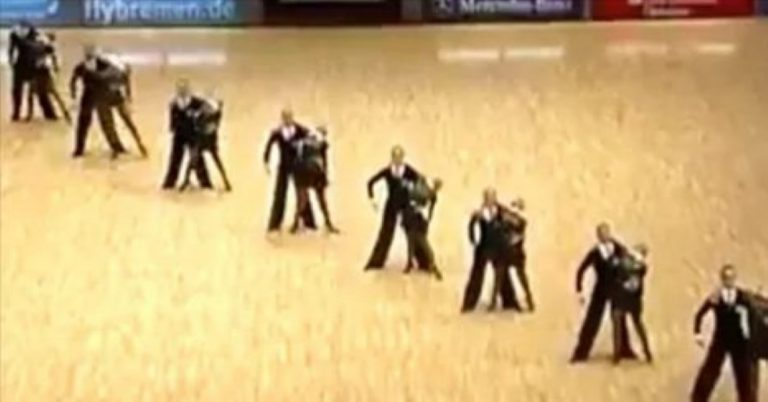 They Form A Diagonal Line On The Dancefloor – What Happens Next? INCREDIBLE!
