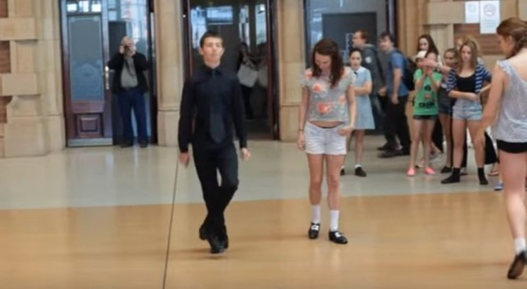 He Stops Everyone In Their Tracks. But Watch This Girl Sneak Up Behind Him And Do THIS!
