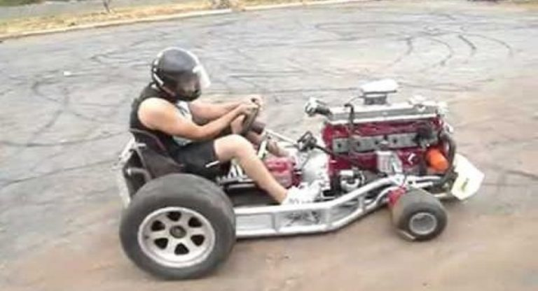 This CRAZY 6 Cylinder Go-Kart Is A BEAST That's Almost Impossible To Drive!