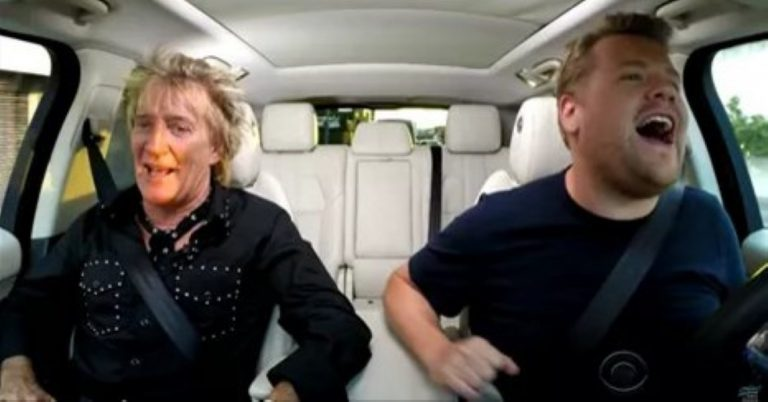 WATCH: He's Singing Along With Rod Stewart – Wait 'Til You See Who Joins Them On The Backseat!