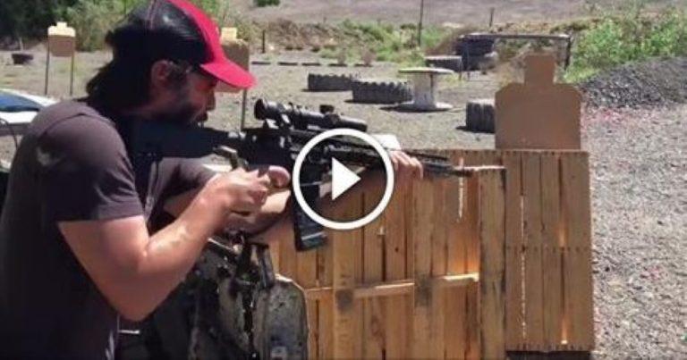 Keanu Reeves Has SERIOUS Skills On The Gun Range!