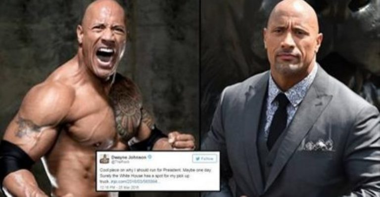 The Rock Speaks Out About Running For President; Sounds Pretty Serious…
