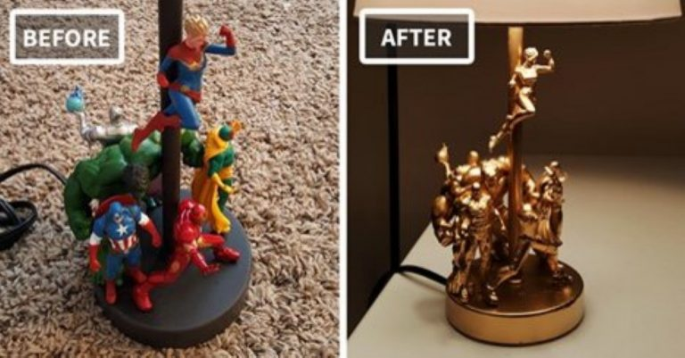 How To Make A Totally Awesome DIY Lamp From Cheap Old Action Figures!