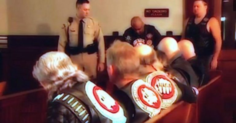 A Petrified Child Enters A Courtroom To Testify. Just Watch What These Bikers Do…