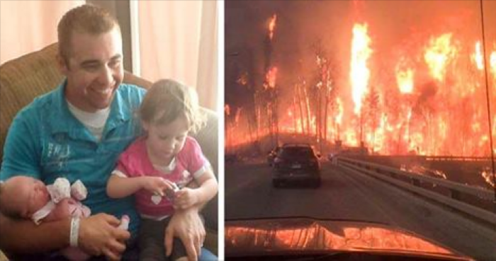 Family Flees Burning Town. What Dad Realizes In The Car Will Tear Your Heart Open
