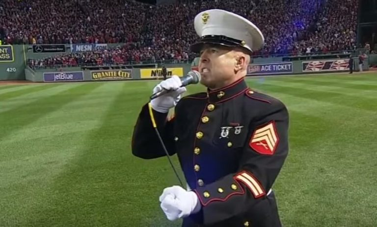 When A Retired Marine Does THIS At Fenway Park… He Leaves 30,000 People IN BITS!